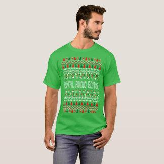 Digital Audio Editor Ugly Christmas Sweater Tshirt