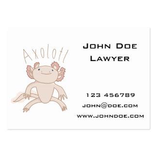 Digital Axolotl Illustration, Cute Animal Business Cards