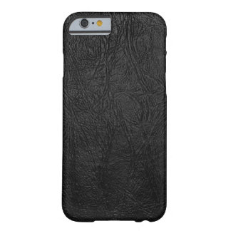 Digital Black Leather Barely There iPhone 6 Case