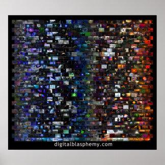 Digital Blasphemy Spectrum Mosaic (Black) Poster