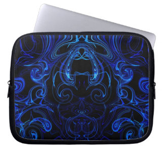 digital blue abstract computer case computer sleeve