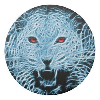 Digital blue leopard fractal eraser