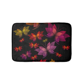 Digital Butterflies Bath Mats