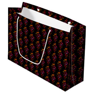 Digital Butterflies Pattern Large Gift Bag