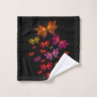 Digital Butterflies Wash Cloth