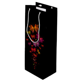 Digital Butterflies Wine Gift Bag