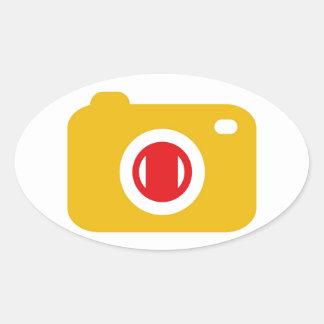 Digital camera oval sticker