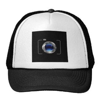 Digital camera with a glossy blue aperture cap