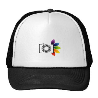 Digital camera with colorful leaves cap