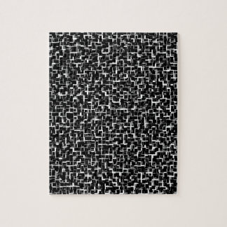 Digital Camo Black White Pattern Jigsaw Puzzle