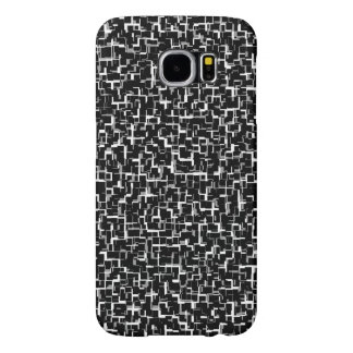 Digital Camo Black White Pattern Samsung Galaxy S6 Cases