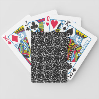 Digital Camo Black White Yellow Pattern Bicycle Playing Cards