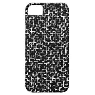 Digital Camo Black White Yellow Pattern iPhone 5 Case