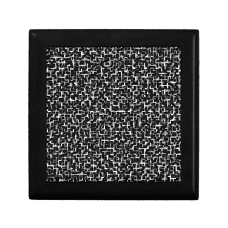 Digital Camo Black White Yellow Pattern Small Square Gift Box
