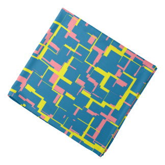Digital Camo Blue Yellow Pink Pattern Bandana