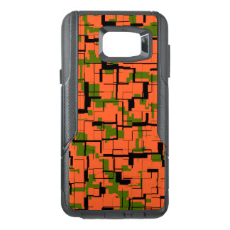 Digital Camo Green Orange Black Pattern OtterBox Samsung Note 5 Case