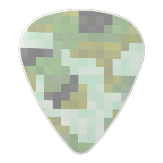 Digital Camo Pixels Acetal Guitar Pick