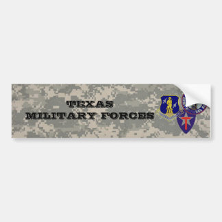 digital camo - TXSG -TX military forces Bumper Sticker
