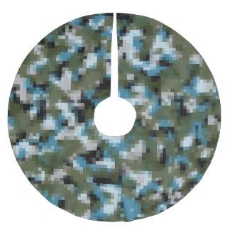 Digital Camo Winter Lake Brushed Polyester Tree Skirt