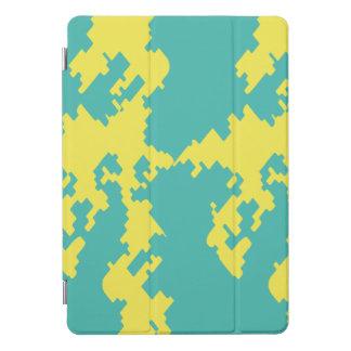 Digital camouflage blue yellow urban iPad Air Cove iPad Pro Cover
