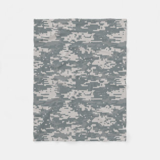 Digital Camouflage Pattern Fleece Blanket