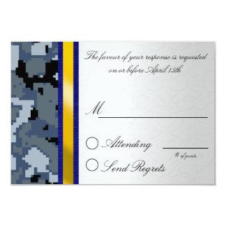 Digital Camouflage Reply Card 9 Cm X 13 Cm Invitation Card