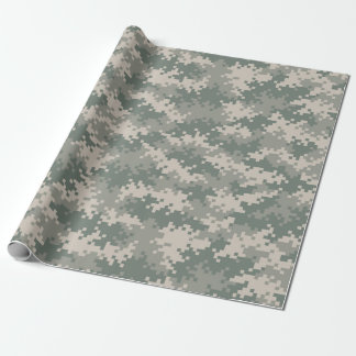 Digital Camouflage Wrapping Paper