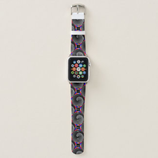 Digital Checker Yin Yang by Kenneth Yoncich Apple Watch Band