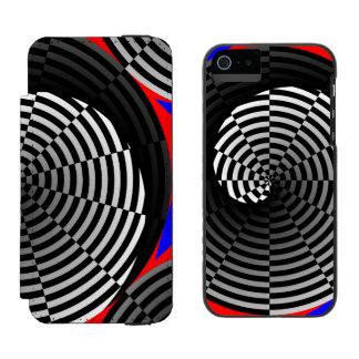 Digital Checker Yin Yang Incipio Watson™ iPhone 5 Wallet Case