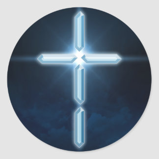 Digital Christian - Digital Cross Sticker Decal