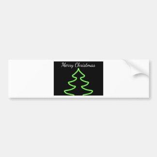 Digital Christmas tree Bumper Sticker