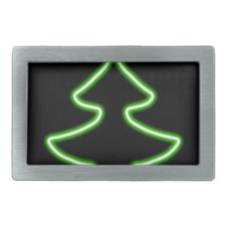 Digital Christmas tree Rectangular Belt Buckles