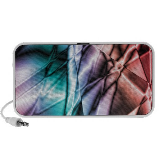 digital color abstract portable speaker