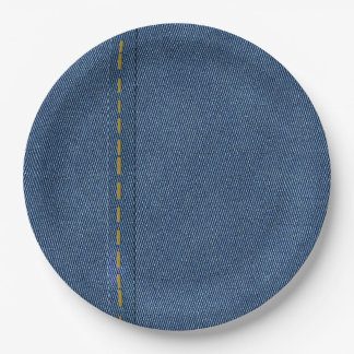 DIGITAL DENIM PAPER PLATE
