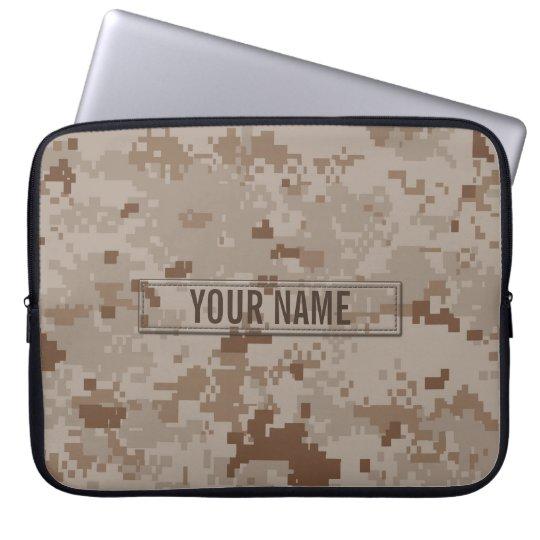 Digital Desert Camouflage Customisable Laptop Sleeve