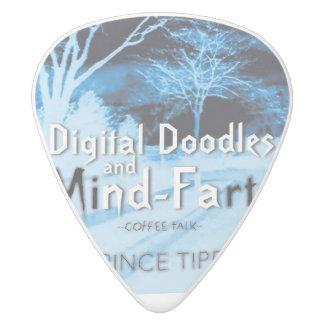 digital doodles andmind-farts pick white delrin guitar pick