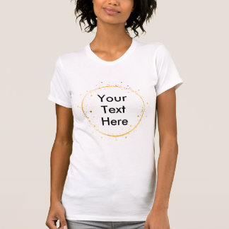 Digital drawing gold circle Create Your Own design T-Shirt