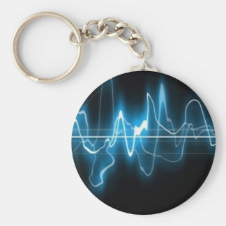 DIGITAL ELECTRIC CURRENT SWIRLS ABSTRACT TIMELINE KEY CHAIN
