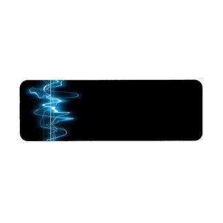 DIGITAL ELECTRIC CURRENT SWIRLS ABSTRACT TIMELINE RETURN ADDRESS LABEL