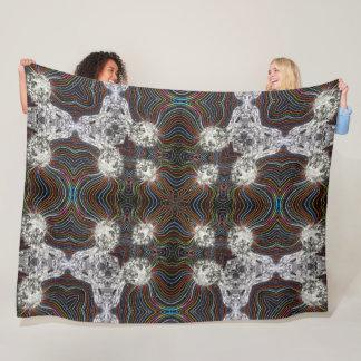 Digital Evolution Society Mandala Fleece Blanket