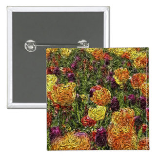 Digital Expressionism: Field of Tulips 15 Cm Square Badge