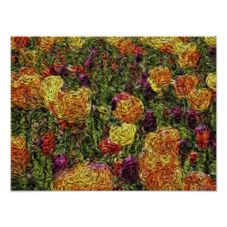 Digital Expressionism: Field of Tulips [S] Poster