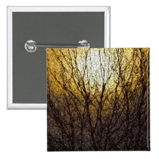 Digital Expressionism: Sunlight in Branches 15 Cm Square Badge