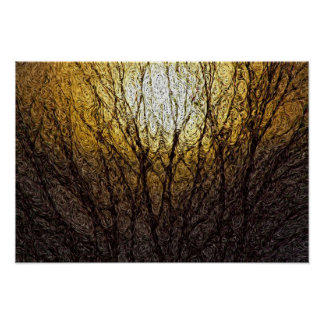 Digital Expressionism: Sunlight in Branches [S] Print