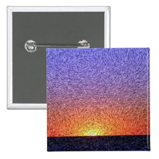 Digital Expressionism: Sunset 15 Cm Square Badge