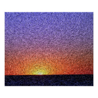 Digital Expressionism: Sunset [L] Poster