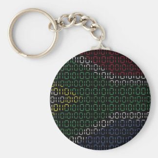 digital Flag South Africa Basic Round Button Key Ring