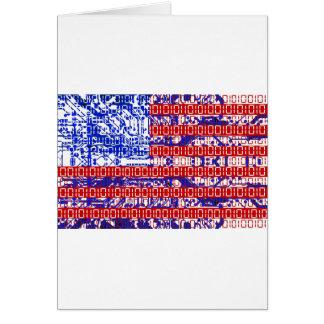 digital Flag (USA) & circuit board. Card