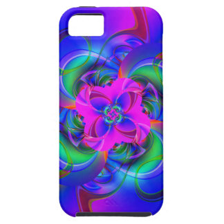 Digital Flower pink and blue iPhone 5 Cover