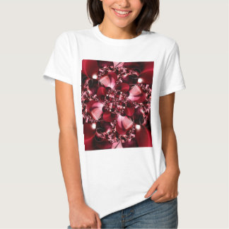 Digital Flower red by Tutti T Shirts